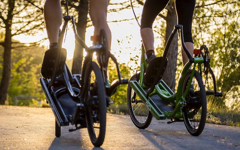 bici ellittica stradale ElliptiGo